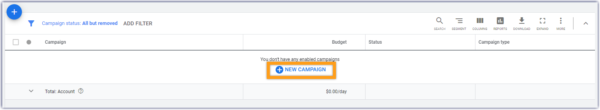 """How to Advertise on Google - Log in to your account and choose """"new campaigns"""""""