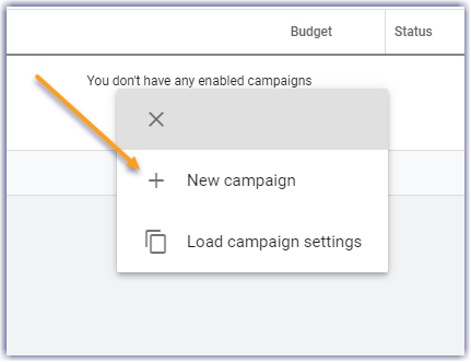 """How to advertise on Google - just click on """"new campaign"""""""