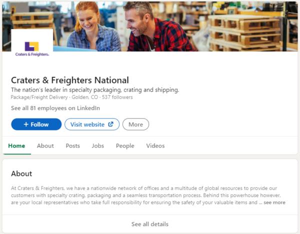 logistics marketing - take advantage of social media platforms like LinkedIn