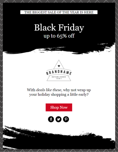 Holiday Email Templates -  Black Friday template