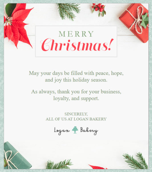 Holiday Email Templates -  Christmas