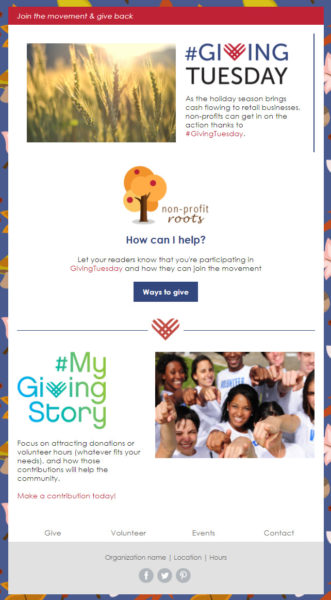 Holiday Email Templates - Giving Tuesday