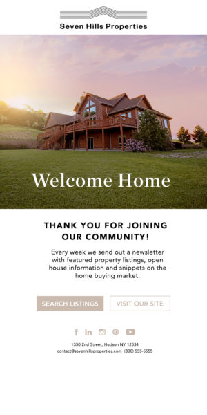 real estate welcome series - welcome
