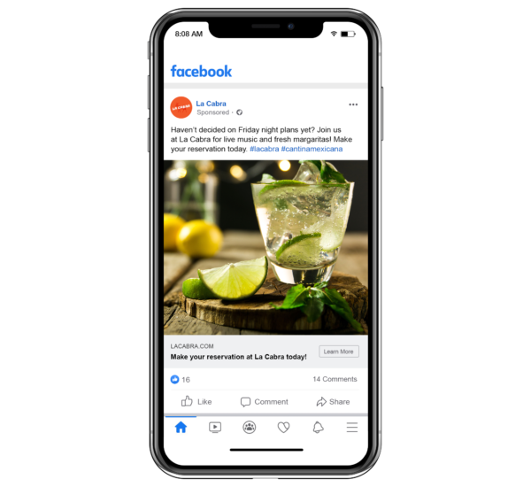 sponsored ads on social media are perfect for restaurant advertisement