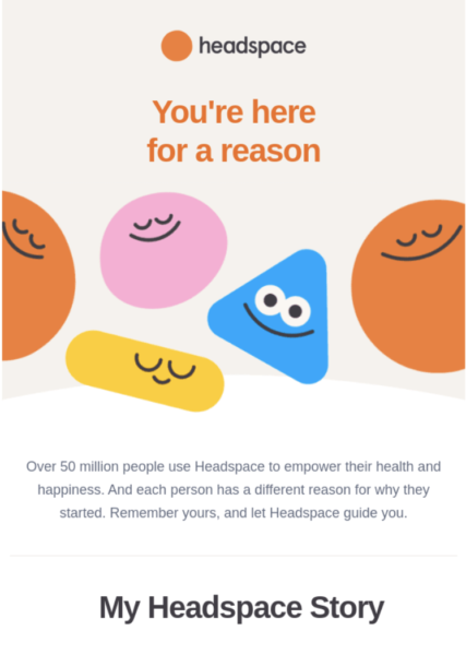 email design example headspace