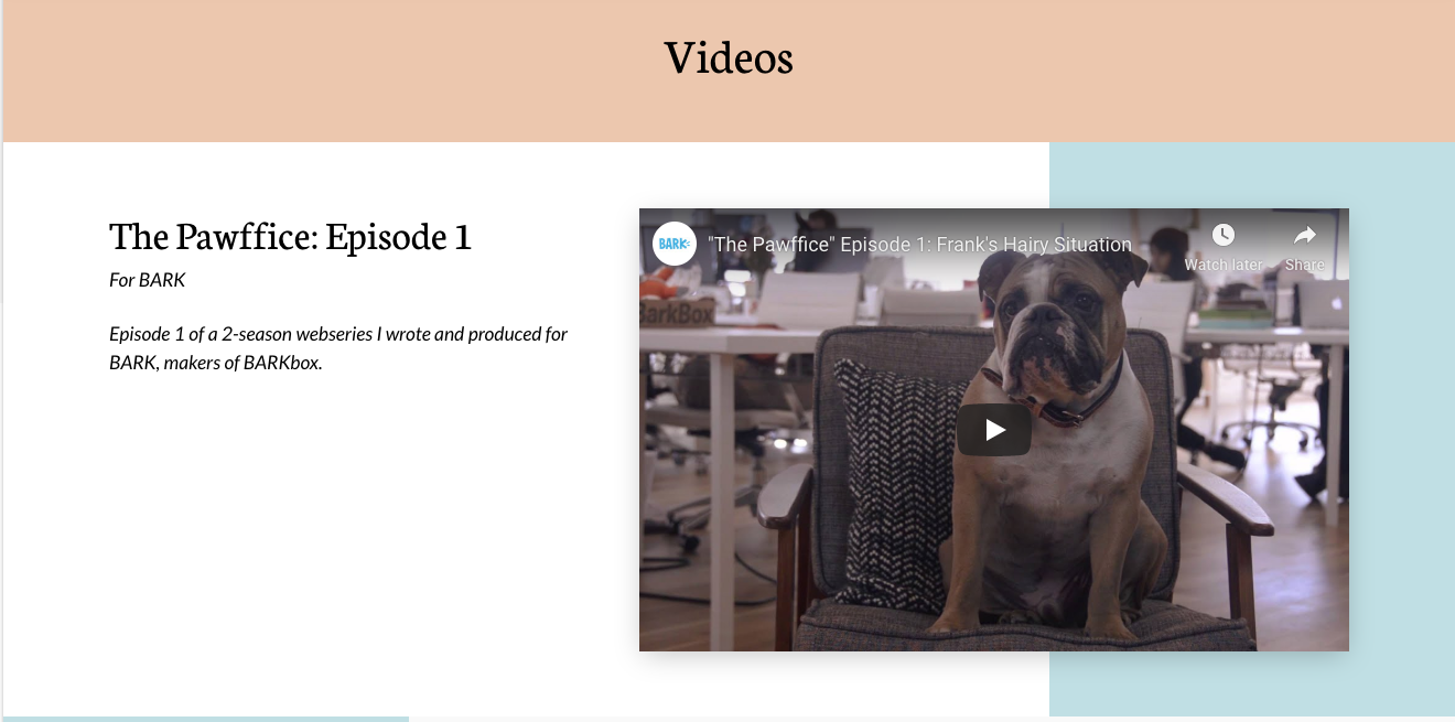 Add video to your personal website