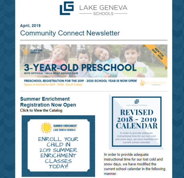 school newsletters are great for boosting enrollment