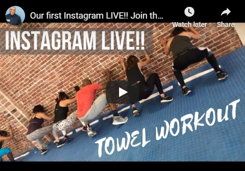 Video Screenshot: Further Than Fitness on Instagram live