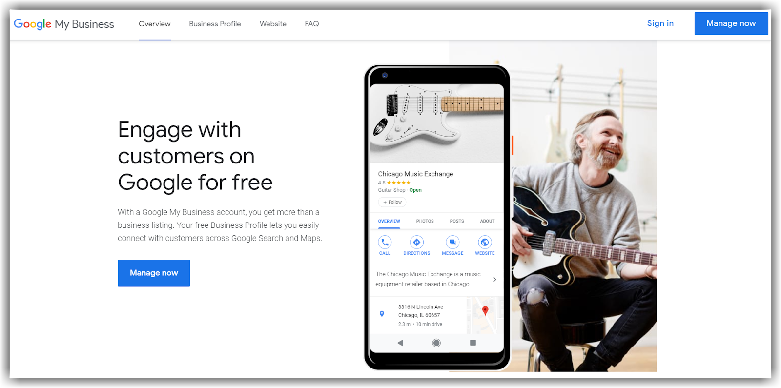 Google My Business: https://www.google.com/business/ to claim your business with Google
