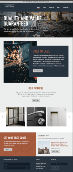 digital marketing for manufacturers includes a website that stands out