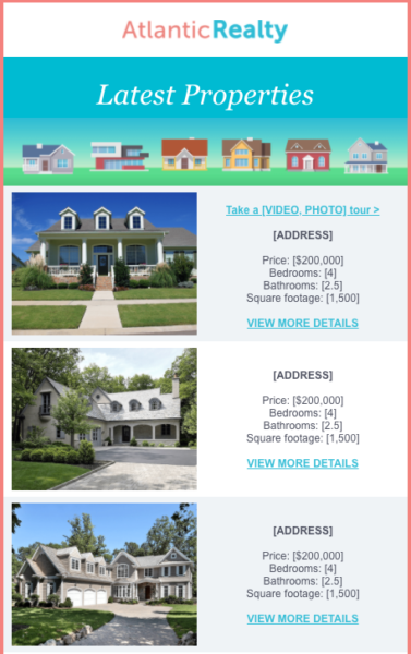 real estate email templates for property listings