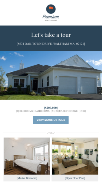 real estate email templates for single listing spotlights
