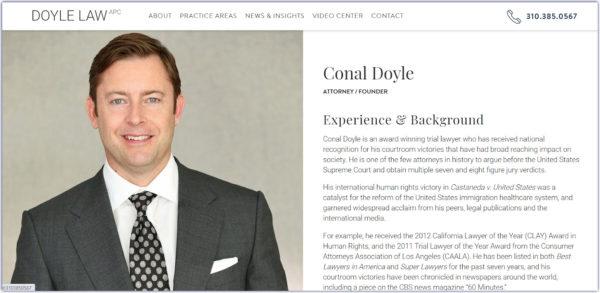 attorney bio with a standard straight-on headshot