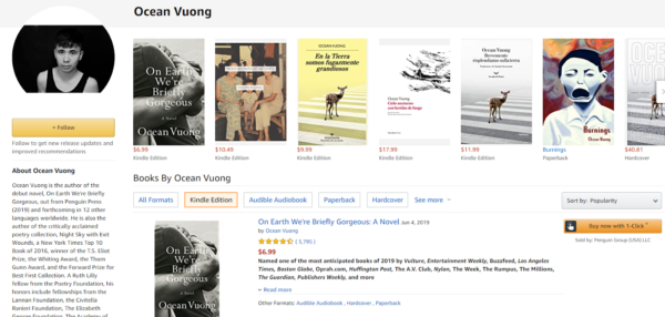 Create an Amazon Author Page that has your accolades at the top