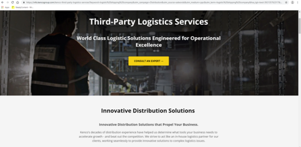 A logistics website needs a homepage that shows exactly what you do