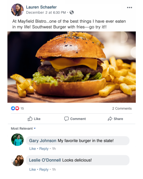 When it comes to restaurant photography, angles matter -- a straight on shot of a burger feels like your about to take a bite