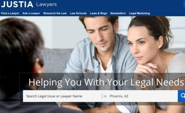 "Lawyer Directories - list of 20 directories - ""Justia"" homepage"