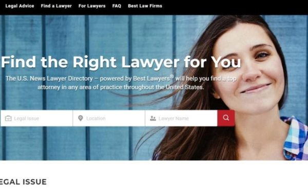 "Lawyer Directories - list of 20 directories - ""The U.S. News Legal Directory"" homepage"