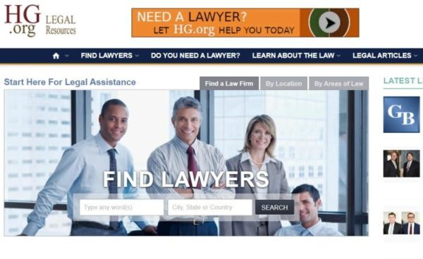 "Lawyer Directories - list of 20 directories - ""HG.org"" homepage"