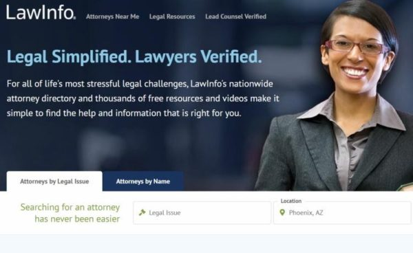 "Lawyer Directories - list of 20 directories - ""LawyInfo"" homepage"