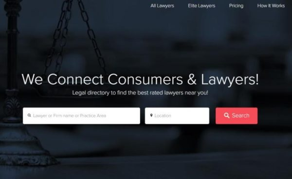 "Lawyer Directories - list of 20 directories - ""LawTally"" homepage"
