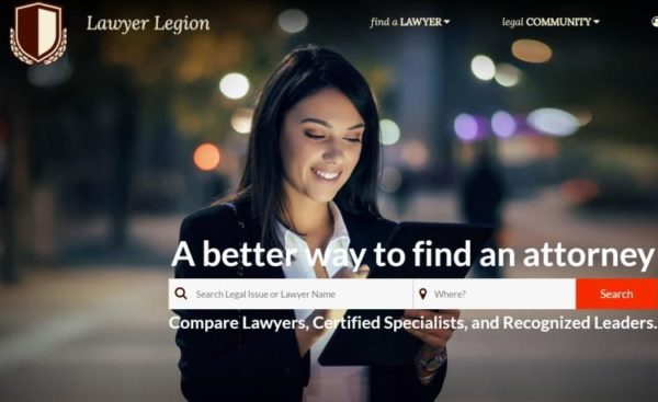 "Lawyer Directories - list of 20 directories - ""Lawyer Legion"" homepage"