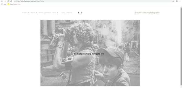 Best Portfolio Websites - Franziska Strausses' homepage