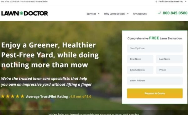 Lawn Care Advertising includes self-promotion with strong brand identity on your website