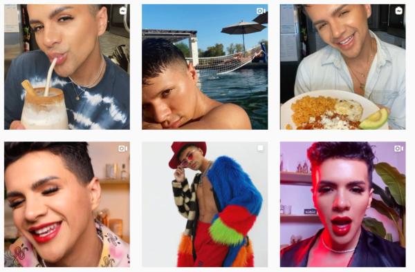 beauty influence program - influencer Gabriel Zamora on Instagram - various brands