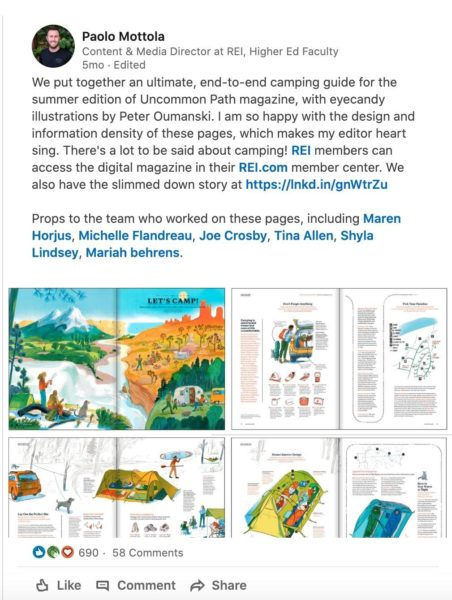campground marketing idea - create sharable content like an infographic containing camping tips
