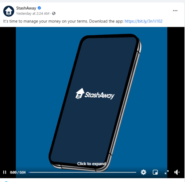 financial advisor ads - animated Facebook ad