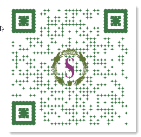 customized QR code with image in center and colored code