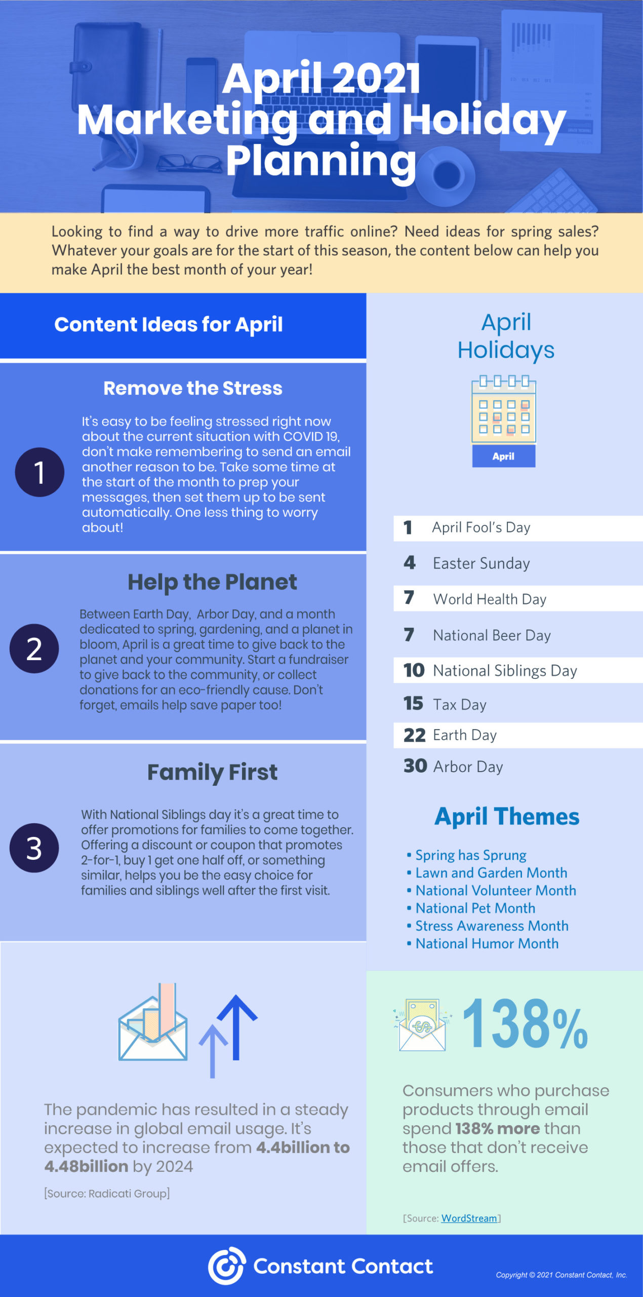 April holidays for marketing planning - 2021Infographic