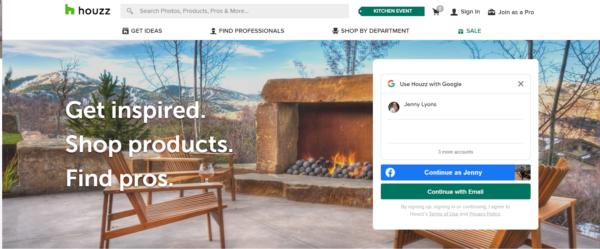 website to find contractors -- Houzz.com