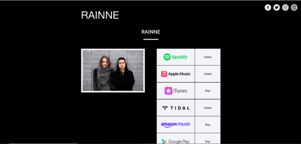 Rainne uses multiple platforms to hose their music in order to broaden their exposure in hopes of booking shows as unsigned artists