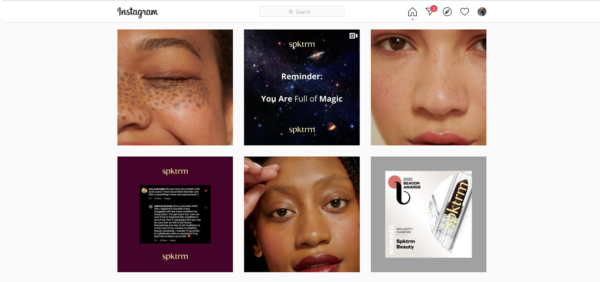 Instagram post - marketing in the beauty industry - no longer uses Photoshopped images