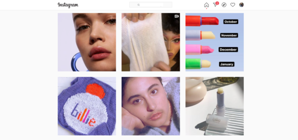 """Billie Inc. steps up their marketing in the beauty industry by posting images of every type of individual that uses their """"clean"""" makeup"""