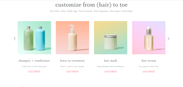"""Marketing in the beauty industry - Function of Beauty allows you to customize your own products """"from (hair) to toe"""""""