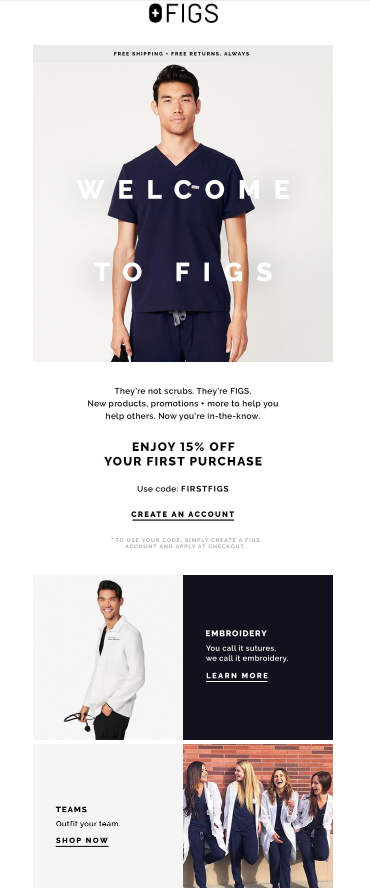 Top of the funnel ecommerce email playbook