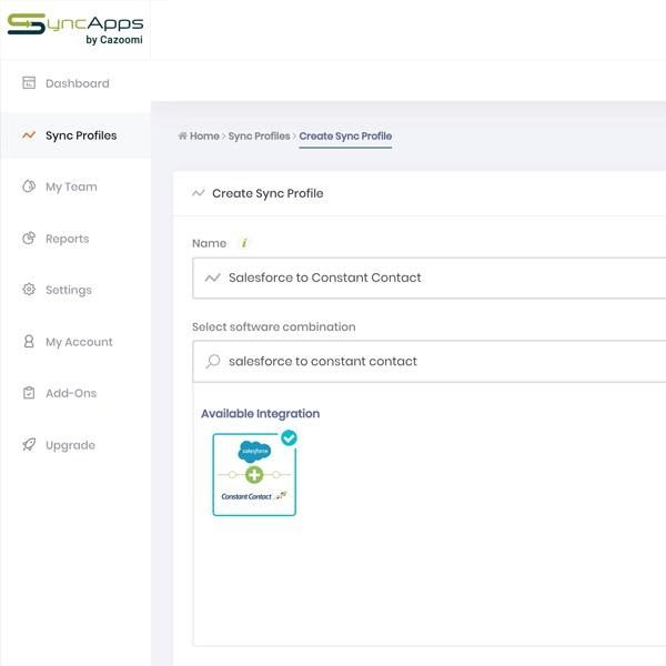 Sales Force integration syncs contacts, accounts, and leads