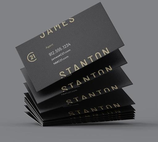 real estate business cards -- examples of Century21
