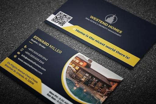 real estate business card example from creativemarket.com