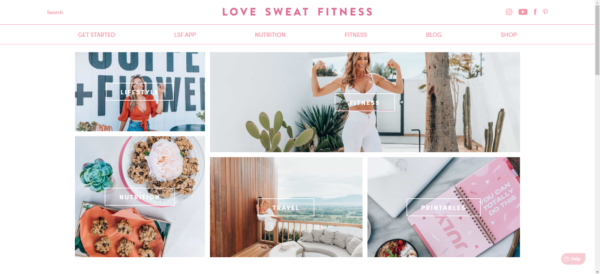 How to start a fitness blog like this one from Love Sweat Fitness that includes insight on a healthy lifestyle