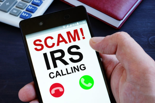 A common tax scam is a scammer calling you or your place of business and demanding money