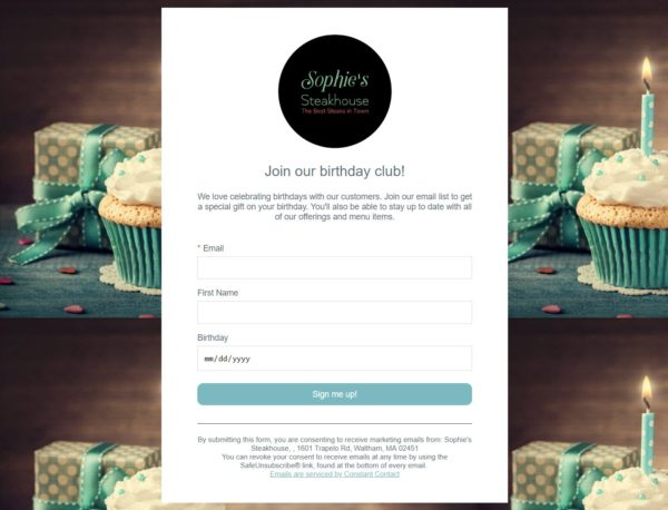 automated happy birthday email
