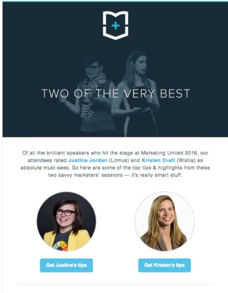 event marketing example - emma