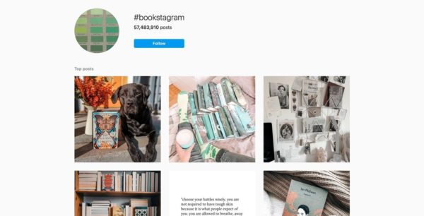 ebook promotion through a #bookstagram account