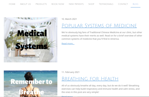 acupuncture marketing with blog posts - Beachside Community Acupuncture blog