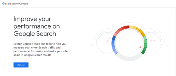 Google Search Console webpage