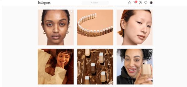 Fenty Beauty's Instagram images of multi-racial women